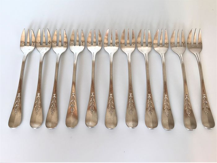 Christofle - 11 Oyster Forks - Silver plated
