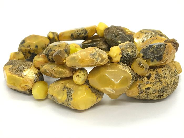Old Vintage Natural Baltic Amber - Massive Necklace - Natural (untreated)