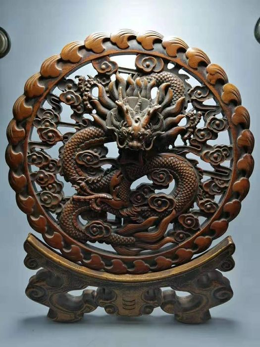 Wooden ornament (1) - Wood - China - 21st century