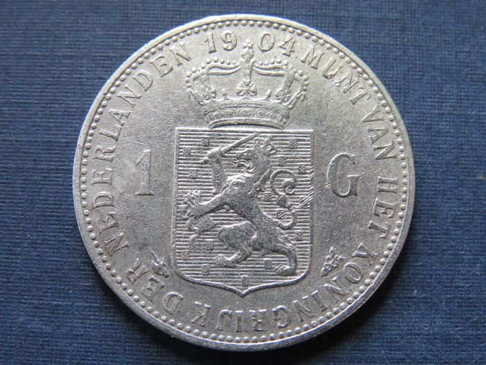 The Netherlands - 1 Gulden 1904 Wilhelmina - Silver