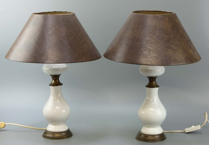 A few table lamps - Brass