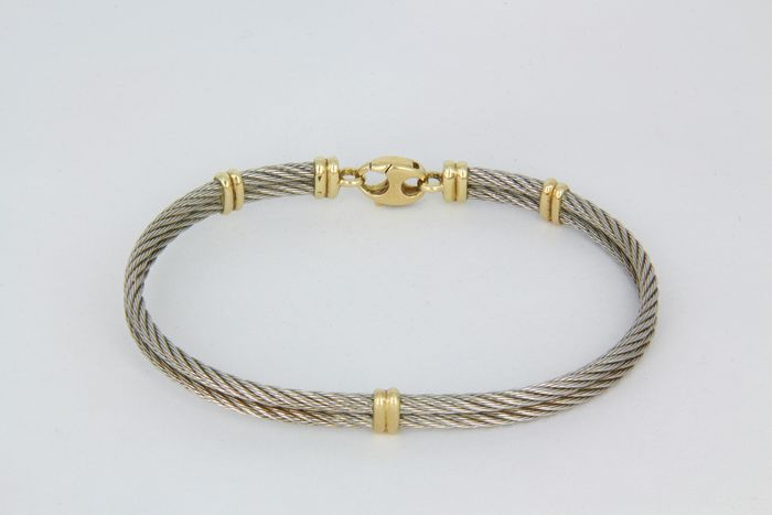 18 kt. Steel, Yellow gold - Bracelet