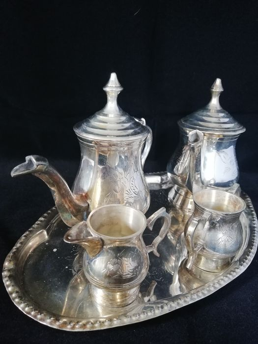 Coffee and teapot with cream set (6) - EPNS