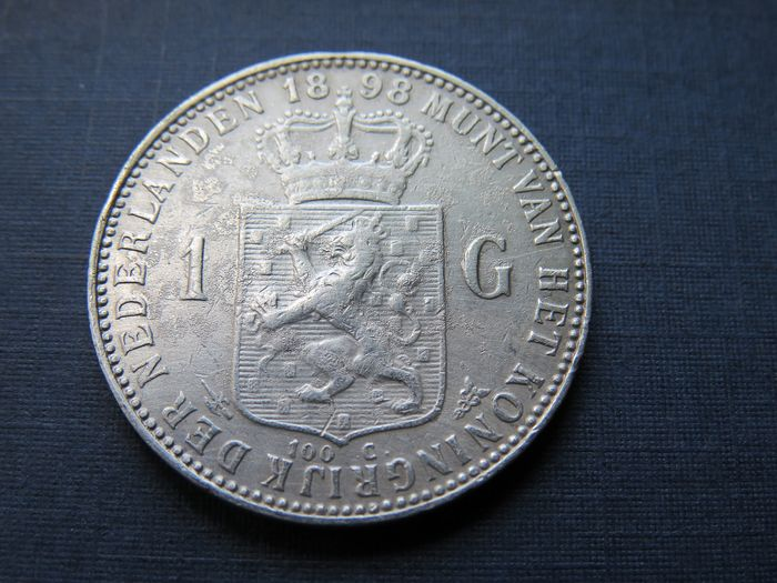 The Netherlands - 1 Gulden 1898 Wilhelmina - Silver