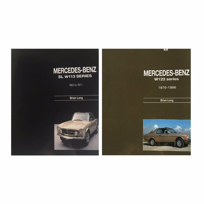 Books - Mercedes Benz W113 - SL 230 250 280 + W123 Series - Brian Long  - 1963-1986