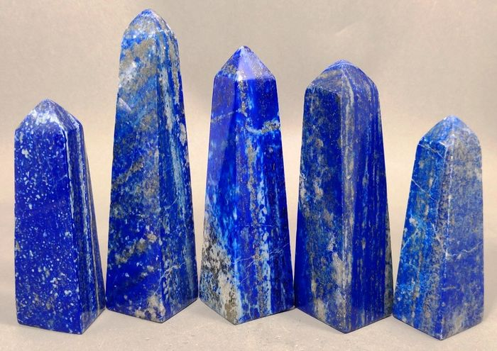Lapis Lazuli Self Standing Towers - 111×30×28 mm - 1020 g - (5)