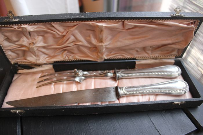 chopping service silver handle in its box 1900 - Silver