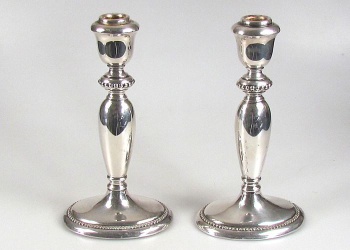 2 candle stands - .835 silver - Jakob Grimminger - Germany - Second half 20th century