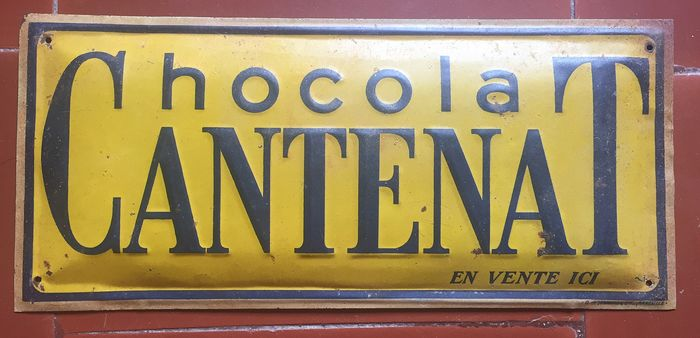 Chocolat Cantenat - Advertising plate (1) - Tole