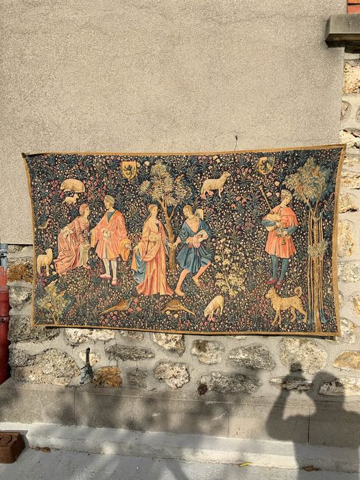 A Demay et E Boitard - Tapisserie de Rambouillet  - Print, Tapestry, Medieval theme tapestry
