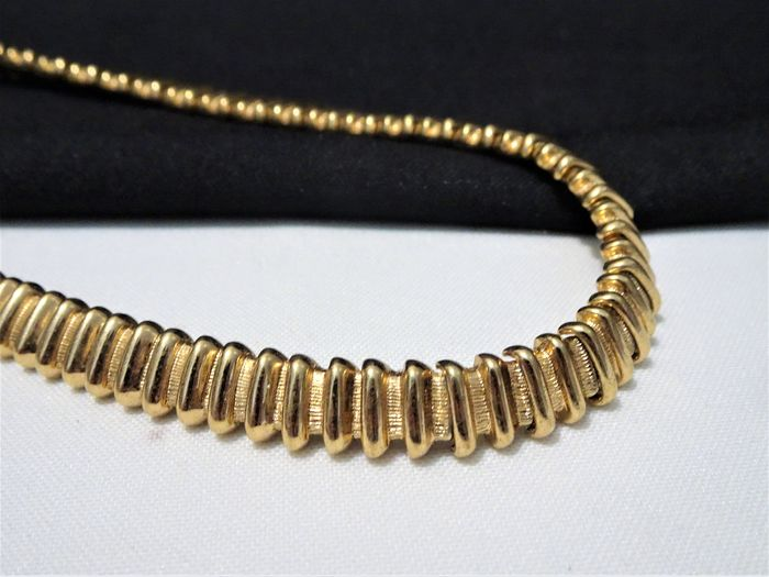 Monet - Triple 22kt. gold plate metal - Choker Necklace