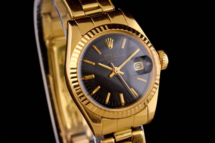 Rolex - Lady Oyster Perpetual Date Just 18K Gold  -  6917 - Damen - 1970-1979