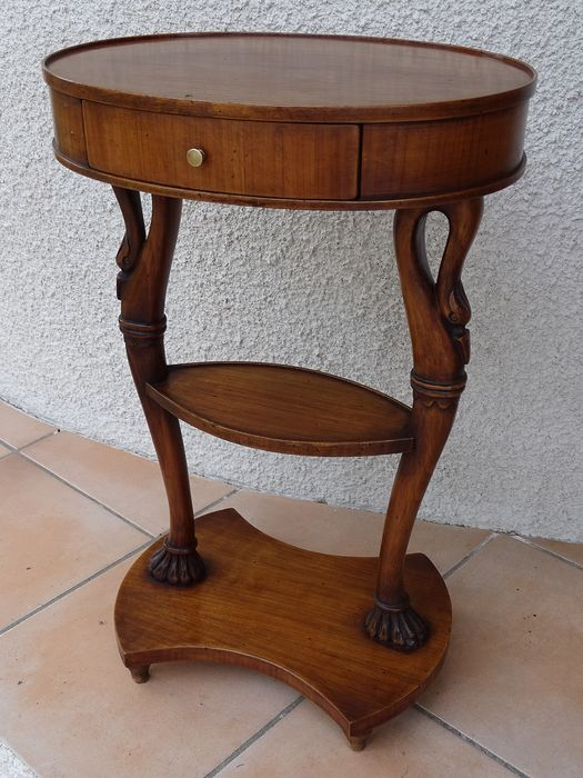 Side table, Gueridon - with swans heads - Empire Style