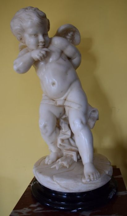 Sculpture, Cupid in statuary marble - Marble - Second half 20th century