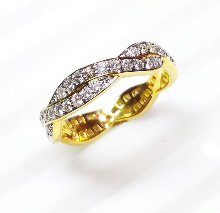 14 kt. Yellow gold - Ring - Diamonds