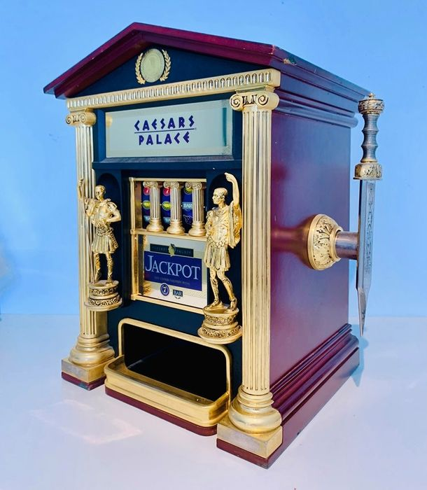 A Caesars Palace Slot Machine  - Completely 24 carat gold plated