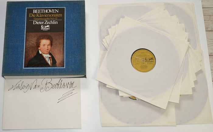 Ludwig van Beethoven The Piano Sonata Complete Edition No. 1-32 Dieter Zechlin - LP Box set - 1970/1970