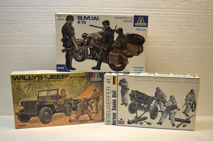 Italaerei Esci - Jeep, motorcycle and guns - Unknown