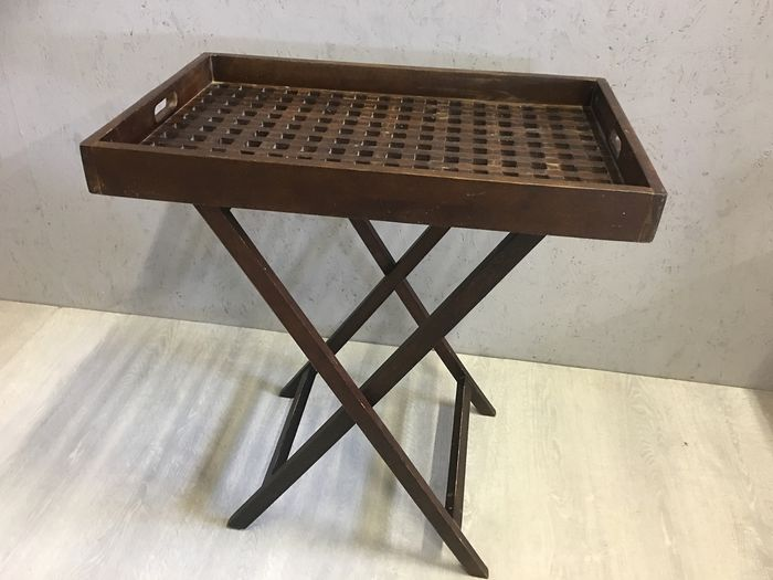 Butler Tray / Side Table - Removable Tray - Wood