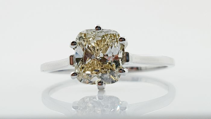 18 kt Vittguld - Ring - 1.02 ct Diamant - Ingen reserv VS1