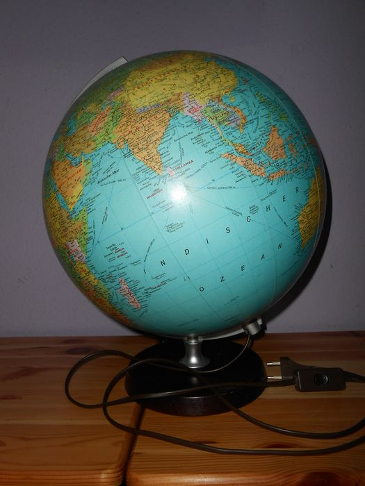 "Large globe JRO ""Munich 2"" with lighting - Wood"
