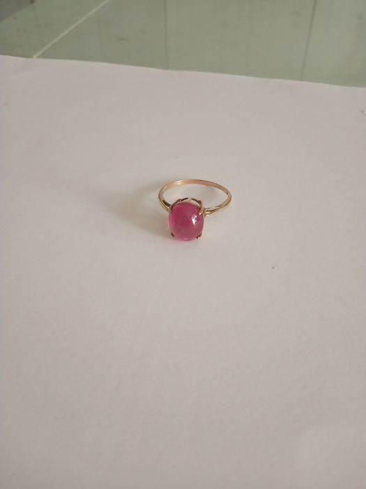 18 kt. Gold, Yellow gold - Ring Ruby