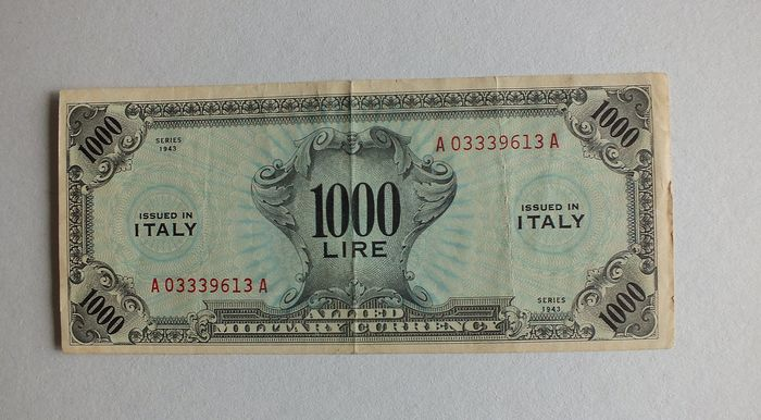 Italy - 1000 lire 1943 - Allied-Military-Currency (AMC) - Gigante AM 8b - R4