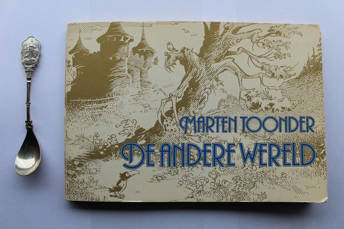 Marten Toonder - Selecta - Teaspoon Rommeldam, Bommelstein castle by Olivier B. Bommel and booklet Marten Toonder, the Other (2) - Silverplate