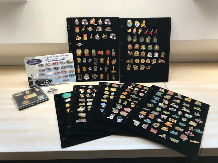 Collection of 309 advertising pins (309) - Metal