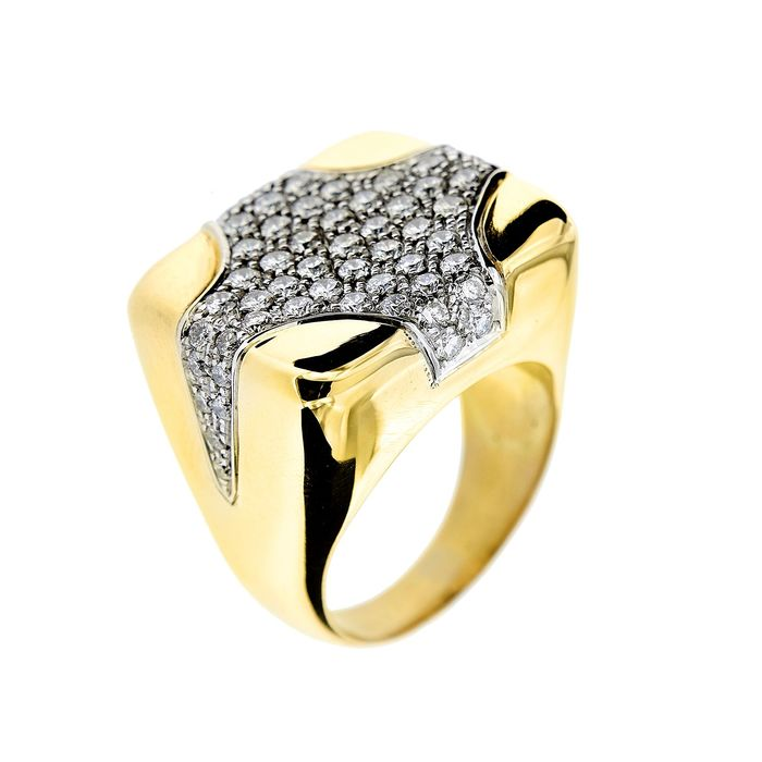 David Webb - 18 kt Gelbgold - Ring - 2.52 ct Diamant