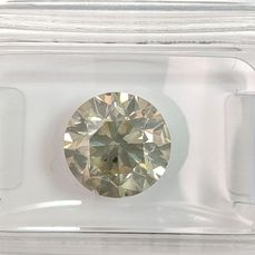 Diamant - 3.01 ct - Brilliant - Fancy Light Greyish Yellow - SI3, No Reserve Price