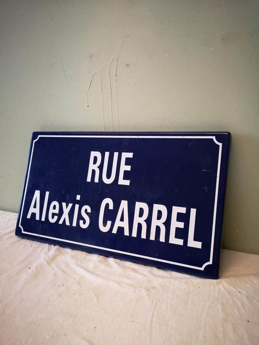 Rue Alexis Carrel - Straatnaam bord - Emaille