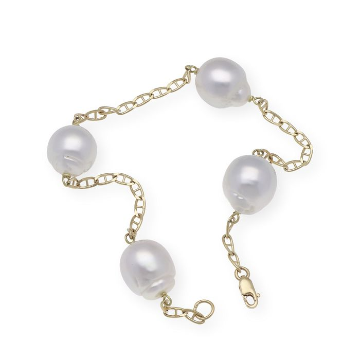 18 karat South sea pearl, Gull - Armbånd
