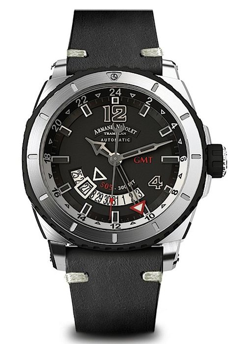 Armand Nicolet - S05 GMT 300M Automatik - A713AGN-GR-PK4140NR - from official dealer - Men - 2011-present