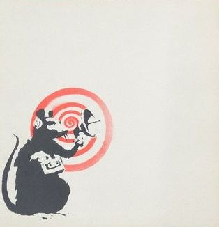 Banksy x Dirty Funker - Radar Rat (Grey)