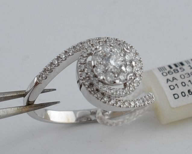 Davite & Delucchi  - 18 kt. White gold - Ring - 0.14 ct Diamond - Diamond