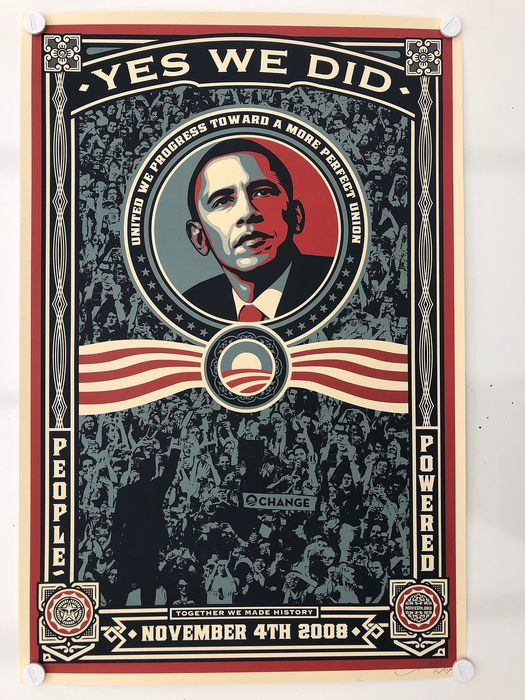 Shepard Fairey (OBEY) - Obama - Yes We Did