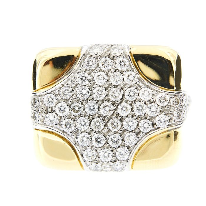 David Webb - 18 karaat Geel goud - Ring - 2.52 ct Diamant