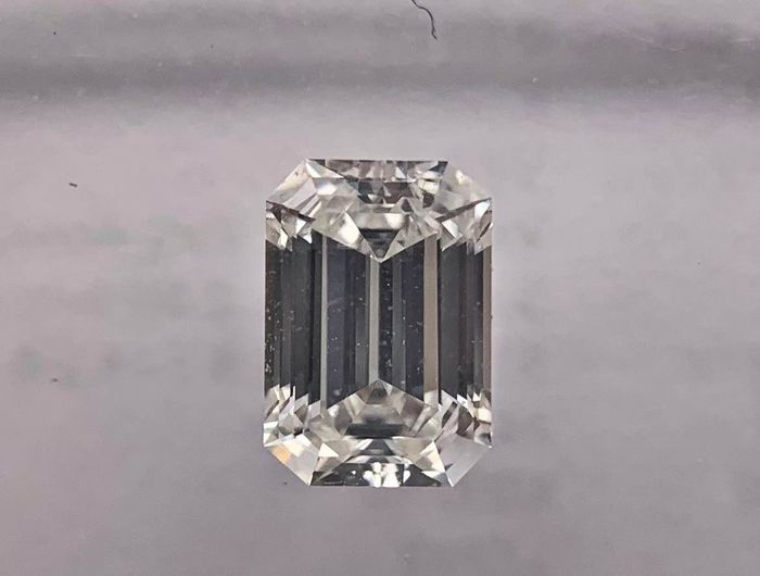 1 pcs Diamond - 0.53 ct - Emerald - F - VVS2