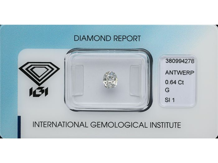1 pcs Diamond - 0.64 ct - Old Mine cut - G - SI1