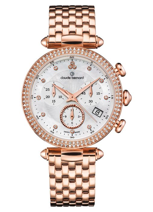 Claude Bernard - Dress Code Chronograph Datum Quarz - 10230 37RM NAR - Dames - 2011-heden