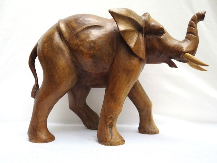 Elephant carvings - hardwood