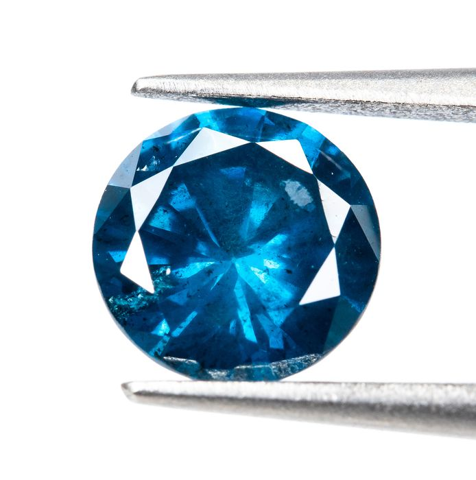 Diamante - 0.67 ct - Fancy VIVID Blue Treated - I2  *NO RESERVE*