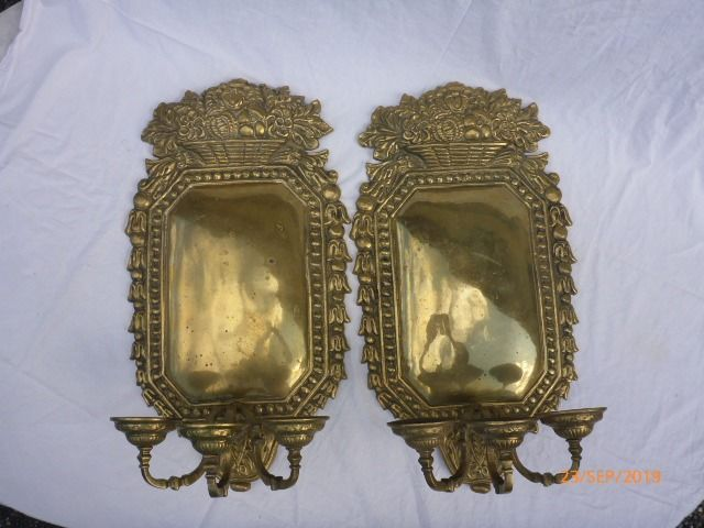Wall sconce (2) - Brons (verguld) - 19e eeuw