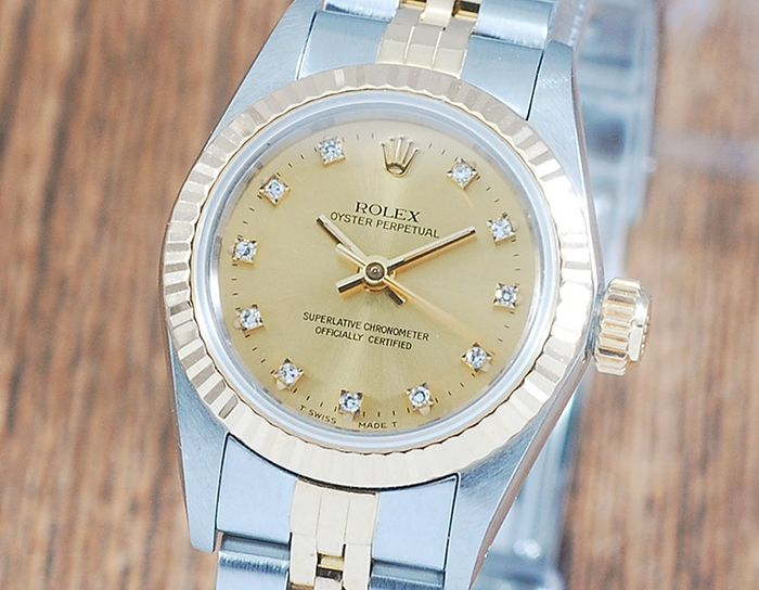 Rolex - Oyster Perpetual - 67193 - Femme - 1990-1999