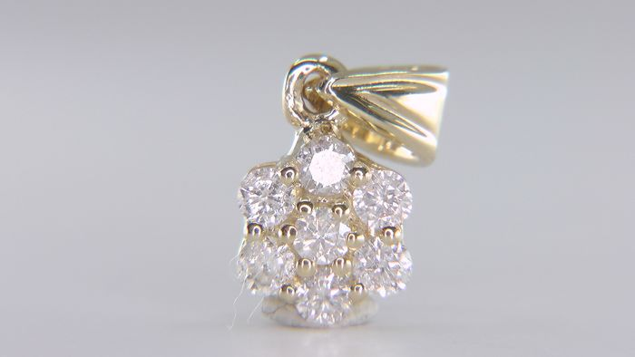 14 kt. Yellow gold - Pendant - 0.28 ct Diamond