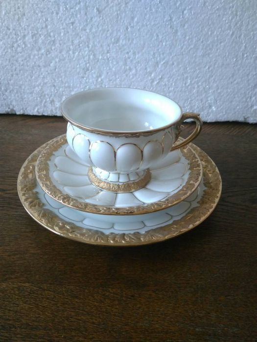 Meissen - Cup & saucer and plate (3) - Porcelain