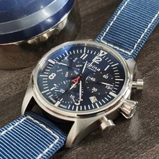 Alpina - Chronograph sporty blue dial  swiss made + free leather strap  - Herre - 2019