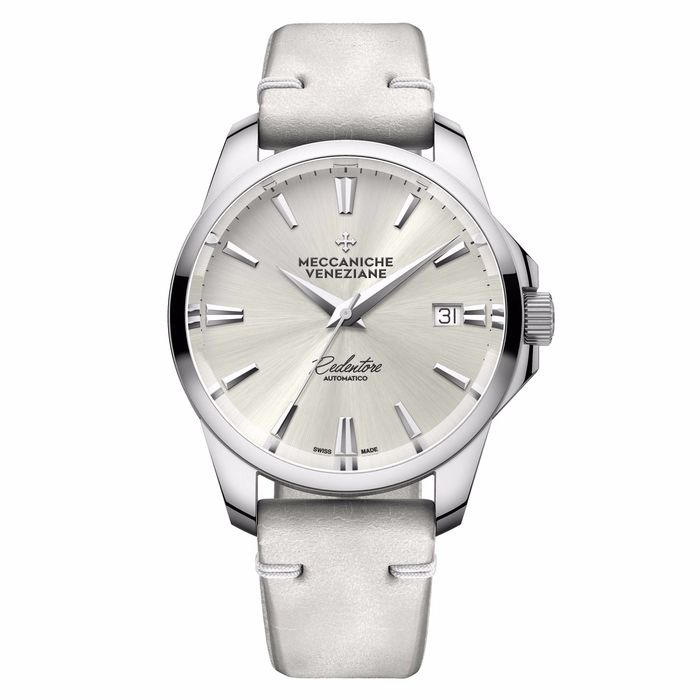 """Meccaniche Veneziane - Automatic Redentore 36mm Bianco with EXTRA Stainless Steel Band - 1205001 """"NO RESERVE PRICE"""" - Unisexe - BRAND NEW"""