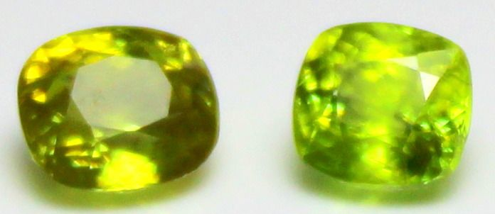 2 pcs  Sphene - 2.83 ct